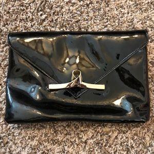 Black Patent Leather Clutch